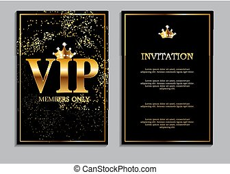 Abstract Luxury VIP Members Only Invitation Background...