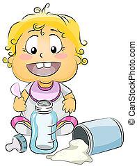 Baby Preparing Milk