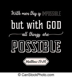 with god all things are possible on wings background, verse...