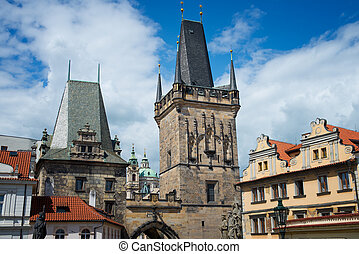 Prague old city - beautiful views of the old town of al in...