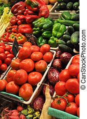 tomate, fresco, produto, venda, mercado