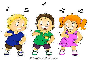 Dancing Kids - Illustration Featuring Dancing Kids