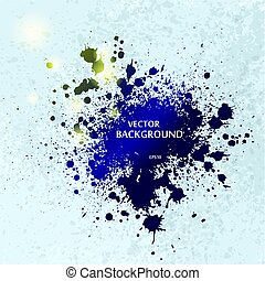 Ink blots splash background - Grunge ink blots background...