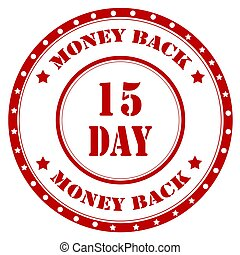 Money Back-stamp - Red stamp with text Money Back,vector...
