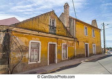 Old house in Santiago do Cacem dowtown, Alentejo, Portugal
