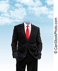 Headless businessman hands in his pocket, 3d illustration