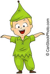 Kid in a Dwarf Costume - Illustration of a Boy in a Dwarf...