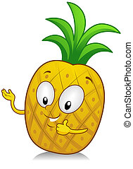 Pineapple Gesture - Illustration of a Pineapple Character...