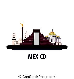 Mexico travel location. Vacation or trip and holiday. -...