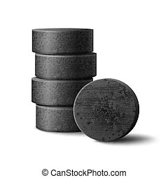 Charcoal for hookah - Vector charcoal stack for hookah pipe...