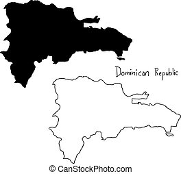 Vector Clipart Of Punta Cana Dominican Republic Touristic Poster - Dominican republic map vector