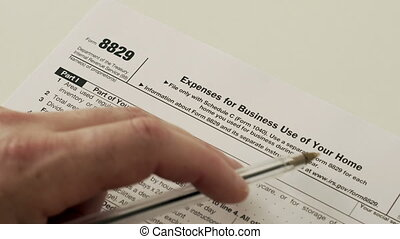 IRS Form 8829 Business Use of Home - An anonymous person...