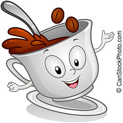 Coffe Drink With Beans - Illustration of a Coffee Drink...
