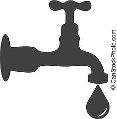 Water mixer icon in black on a white background. Vector...