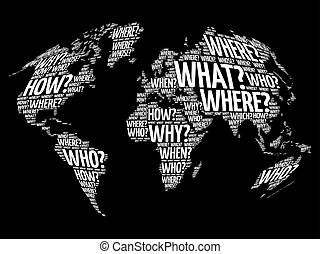 Question Words World Map