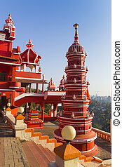 Indian temples for prayers and forgiveness - India, Goa, 8...
