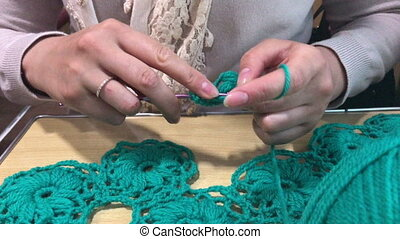 The individual entrepreneur is engaged in knitting clothes...