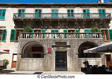 Palace of Pima family in old town Kotor, Montenegro