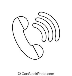 Telephone dial with wi-fi icon - on a white background...