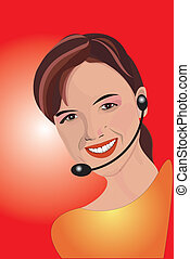 Telemarketing - The girl speaking on the phone