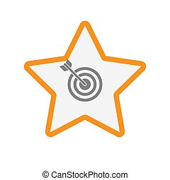 Isolated star with a dart board - Illustration of an...