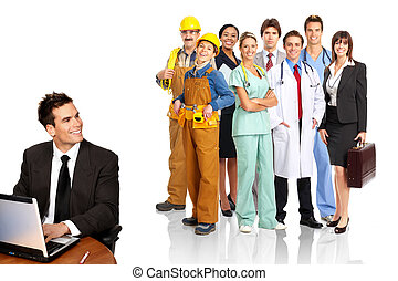 Workers - Business people, builders, nurses, doctors,...