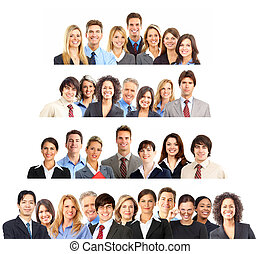 Business people - Large group of business people. Over white...