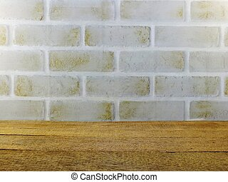 brick wallpaper space background and wooden
