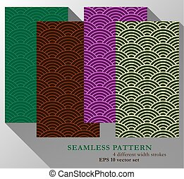 Colorful Seamless Background Pattern Set