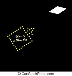 There is a way out - Poster Exit Search - There is a way out
