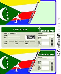 Tickets for air travel Comoros