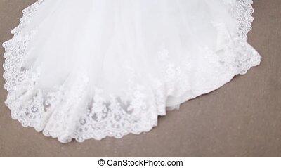 hemline white wedding dresses - bride brunette is on the...