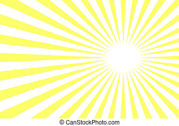 yellow rays - Background with yellow rays Over white