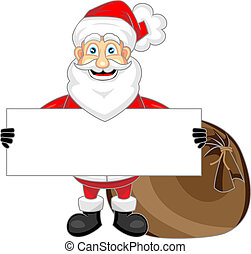 cute happy looking santa claus hold