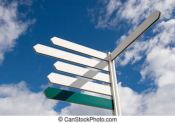 Arrow Signs - Blank Directional Arrow Sign Post