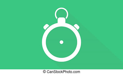 Sport clock in PNG format with ALPHA transparency channel isolated on green background