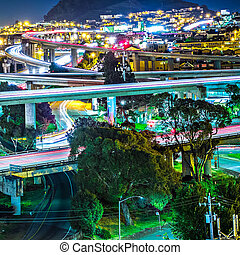 san francisco california 101 and 280 highway interchange