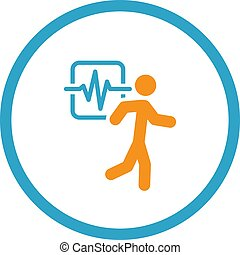 Cardio Workout and Medical Services Icon.