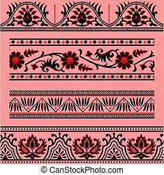 abstract ornamental border pattern
