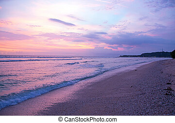 Sunset at the beach on Gili Meno in Indonesia