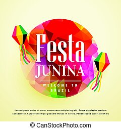 festa junina latin american holiday background