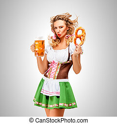 Emotions and Oktoberfest. - Offended Oktoberfest woman...