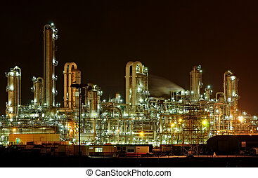 Refinery - Towers and pipes of a chemical production...