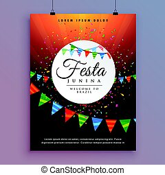 flyer design for festa junina celebration event design