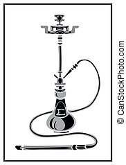 hookah - background, illustration