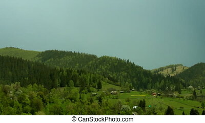 Carpathian meadows after rain