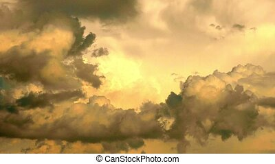 Dramatic clouds and sunset timelapse fullHD video