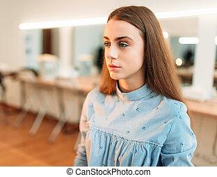 Woman in beauty studio