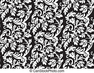 Abstract baroque floral pattern - background