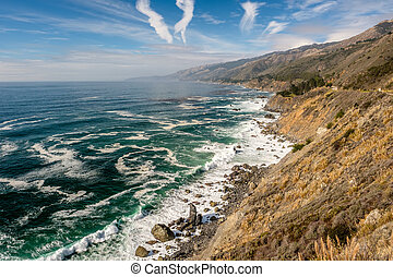 USA Pacific coast landscape, California - USA Pacific coast...